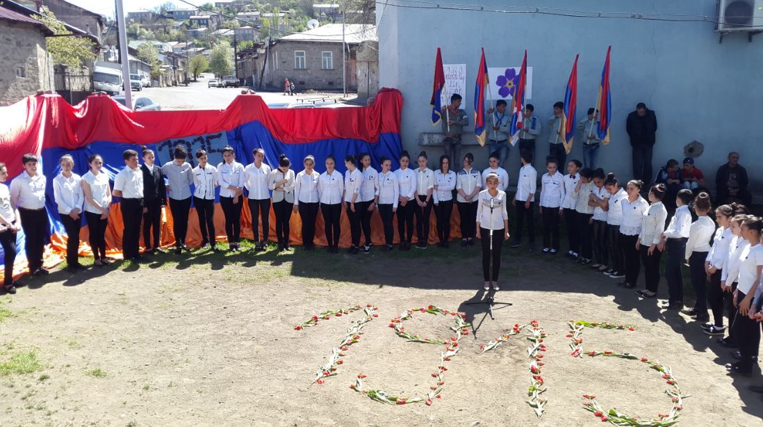 Youth center of Akhaltskha hosts event dedicated to the memory of the victims of the Armenian Genocide