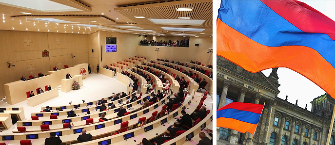 Javakhk representative speaking in the Parliament of Georgia urged to follow the example of the German Bundestag